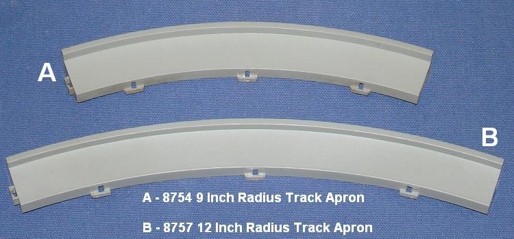 Tyco S HO Speedways HO Scale Slot Car Racing 9 Inch Curved Radius Track Apron Comparison