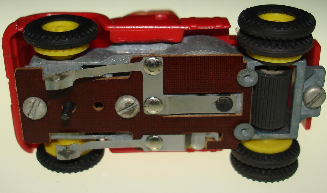 Aurora Vibrator HO Slot Car Red Semi Cab Chassis