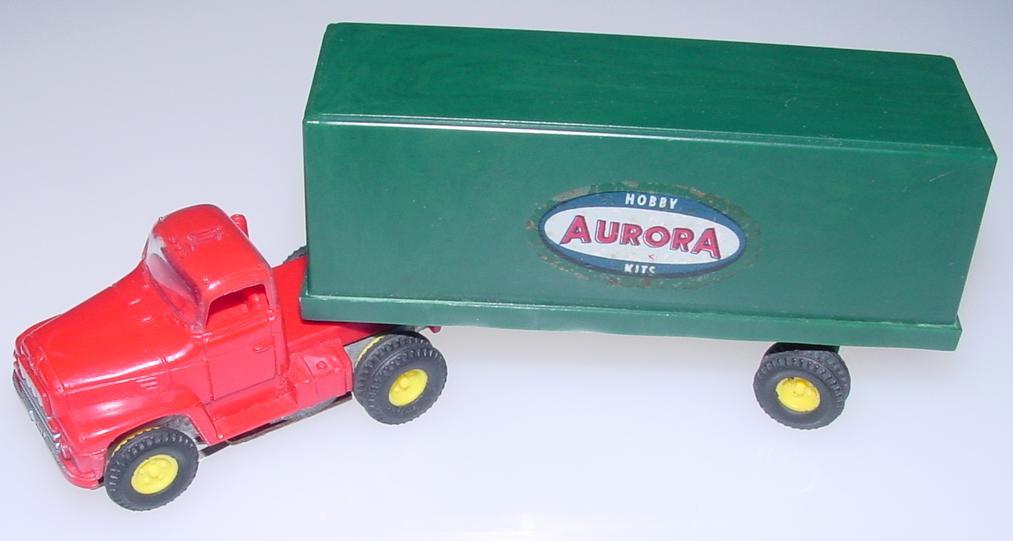 Aurora Vibrator Red Roof Truck Cab Logo Trailer