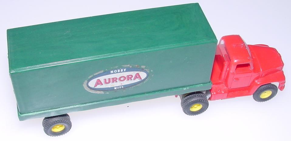 Aurora Vibrator HO Slot Car Logo Truck Trailer