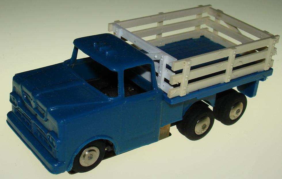 MARX HO Stake Truck Slot Car Blue Body