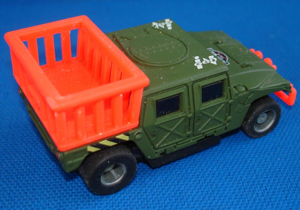 Tyco HO Scale Jurassic Park Dinosaur Hummer Slot Car Truck Runner Cage