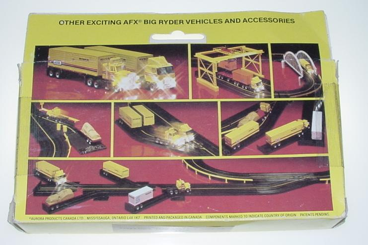 AFX Big Ryder Slot Car Truck Box Package Displaying Vehicles & Accessories