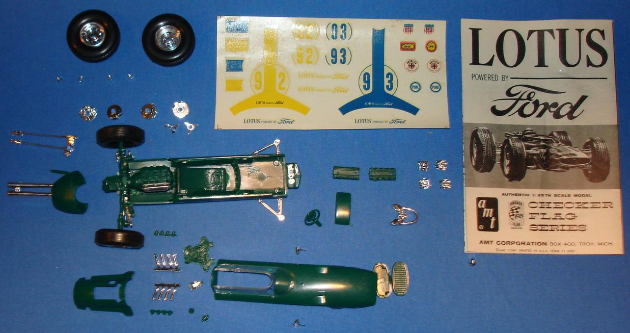 AMT 125 Scale Slot Car Model Parts