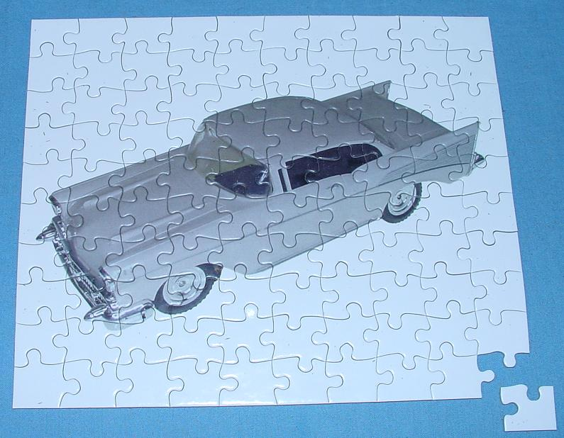 O Gauge White Hardtop Stocker Slot Car Racing Jigsaw
