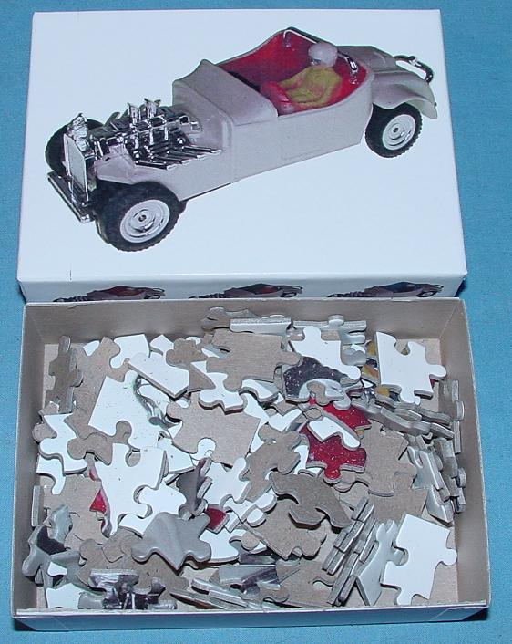 White 1:48 O Gauge Slot Car Jigsaw Puzzle Stock Number 1958R Contents