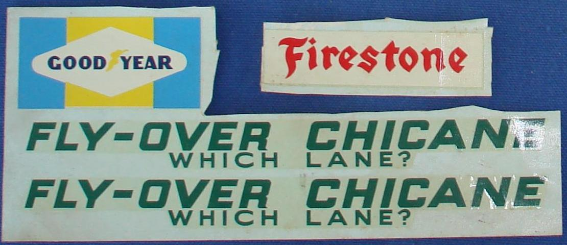 AC Gilbert Fly Over Chicane Slot Car Decal Sheets