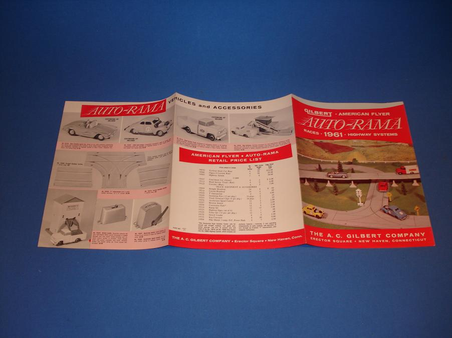 AC Gilbert Auto-Rama Slot Car Racing Catalog Back Covers