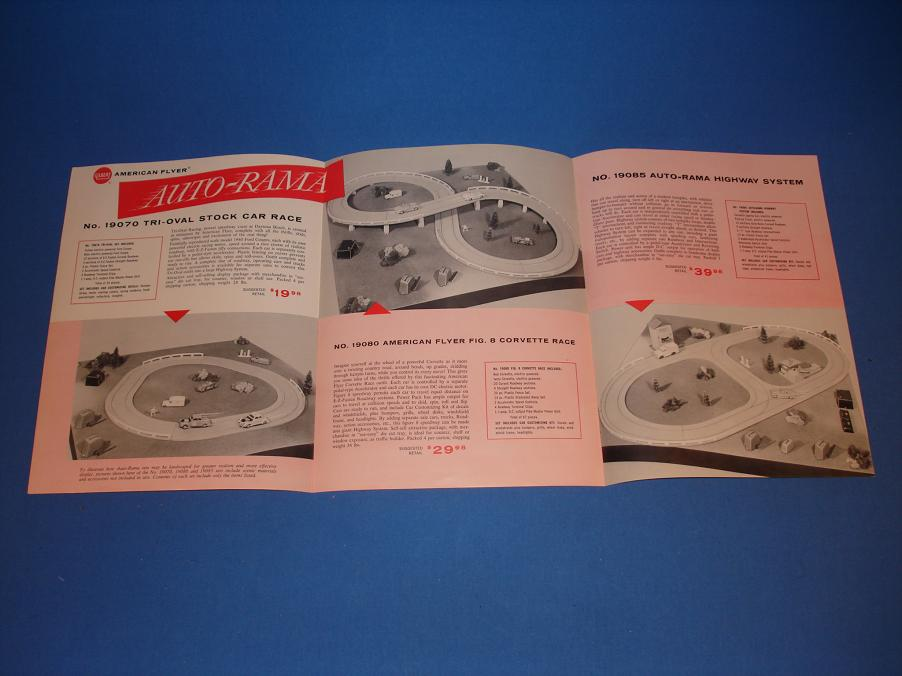 AC Gilbert Auto-Rama Slot Car Racing Catalog Contents