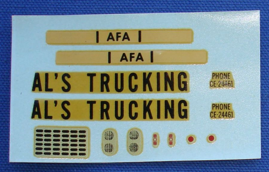 AC Gilbert American Flyer Auto Rama Slot Car Decal Sheet