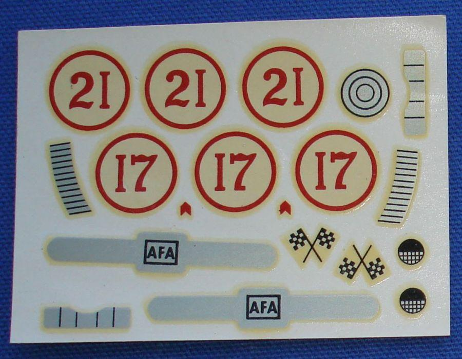 AC Gilbert American Flyer Auto Rama Slot Car Decal Sheet