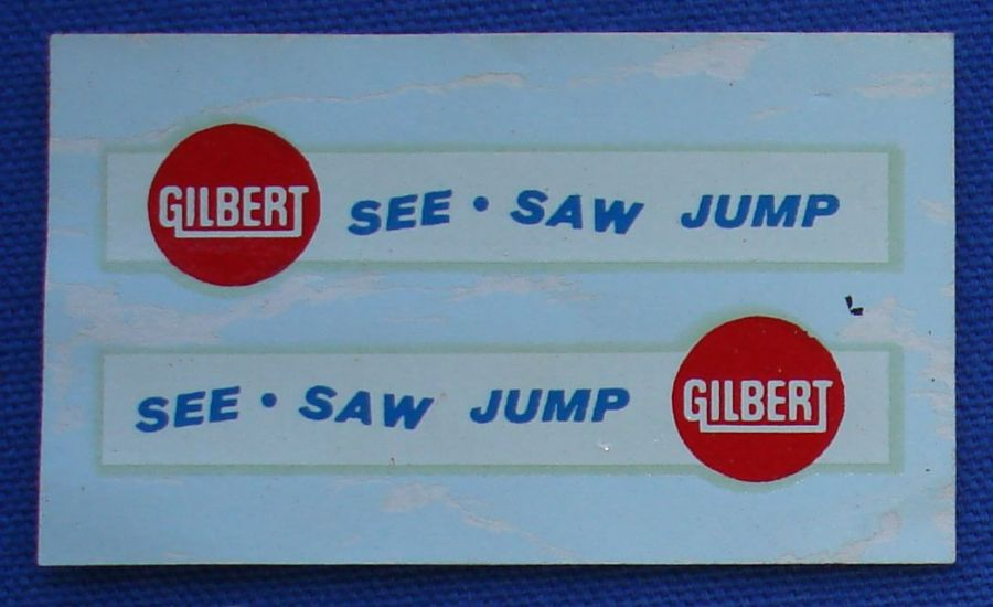 AC Gilbert American Flyer Auto-Rama Slot Car Decal Sheet