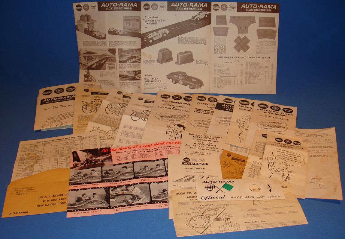 AC Gilbert Slot Car Racing Paperwork