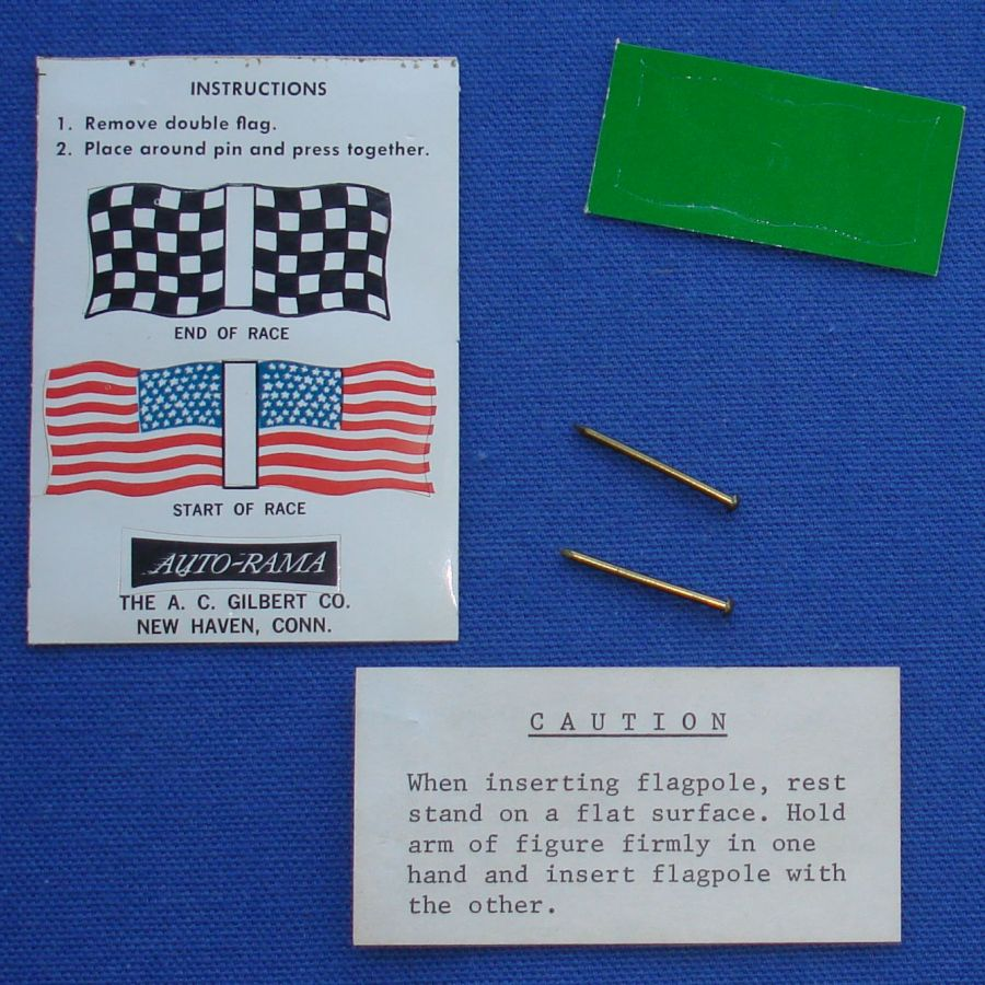 AC Gilbert American Flyer Auto Rama Slot Car Sticker Sheet