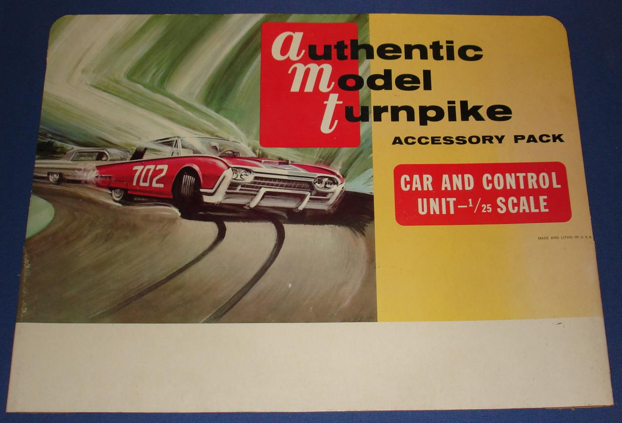 Authentic Model Turnpike AMT Slot Car Road Racing Store Display Backboard