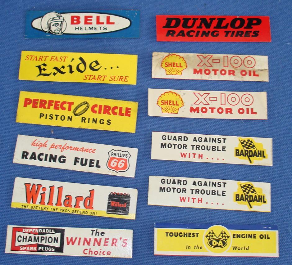 AURORA 1/48 1/32 SCALE TWELVE SLOT CAR RACING BILLBOARD DECALS ...