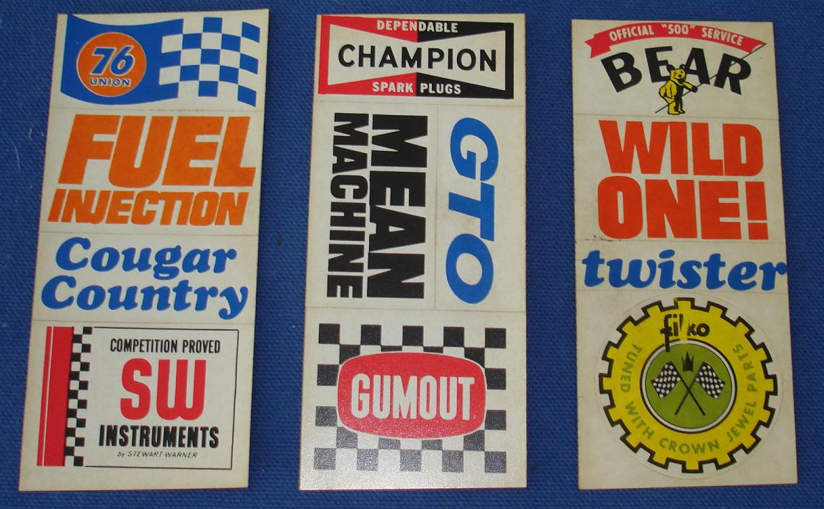 Vintage Automotive Stickers