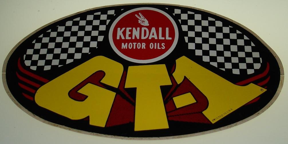 Vintage Decals Kendall Motor Oils GT-1 Oval Decal