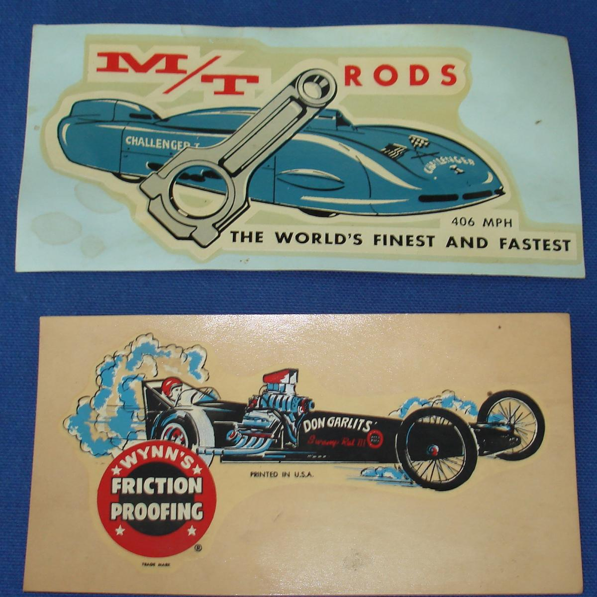 Mickey Thompson Challenger Don Garlits Swamp Rat III Waterslide Decal Sheets