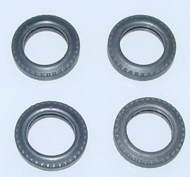 Aurora Super Model Motoring 148 Scale Slot Car Replacement Parts Four Standard Tires