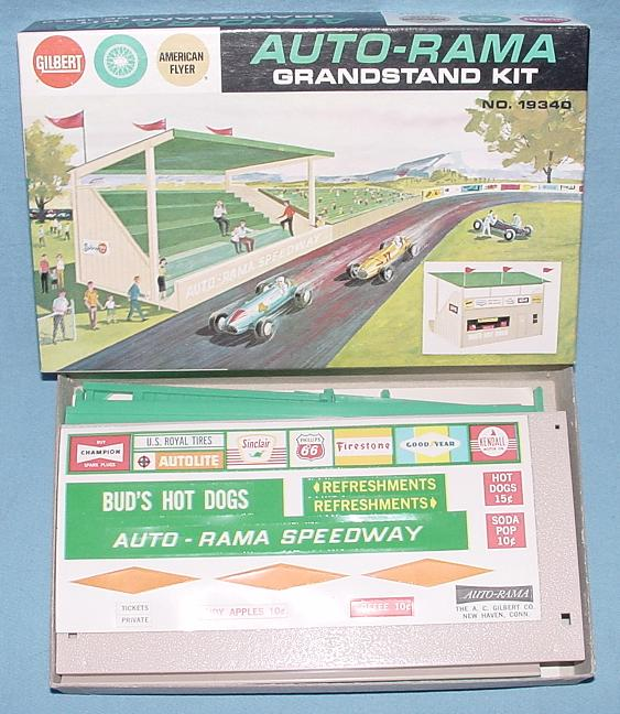 AC Gilbert Auto-Rama Speedway Slot Car Racing MIB Grandstand Kit