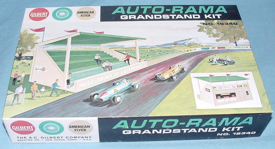 AC Gilbert Auto-Rama Speedway Slot Car Racing Grandstand Kit Box Lid