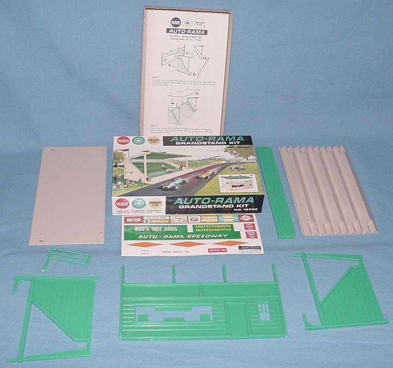 AC Gilbert Auto-Rama Speedway Slot Car Racing Grandstand Kit #19340 Contents