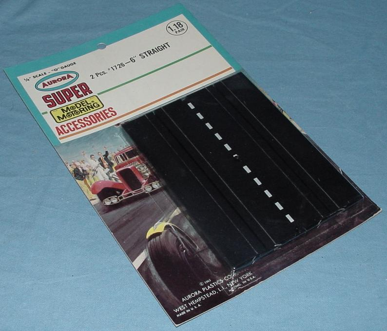 Super Model Motoring Slot Car 6 Inch Straight Track