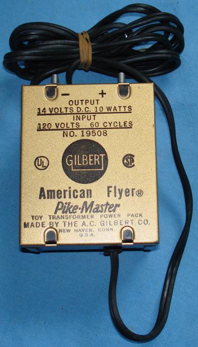 Gilbert American Flyer Pikemaster Slot Car Racing Toy Transformer 19508
