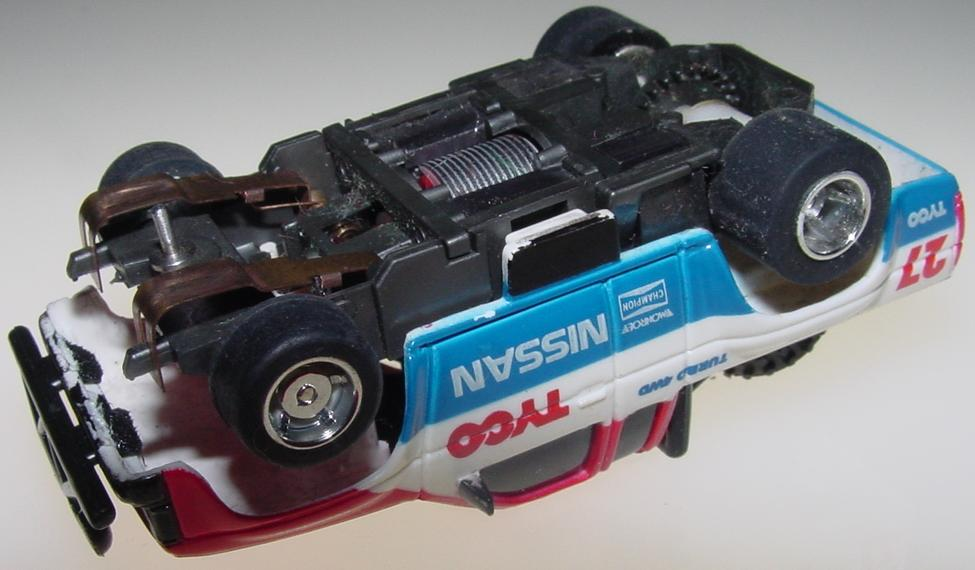 Tyco Nissan Turbo 4WD Pickup Truck Slot Car Runner Chassis
