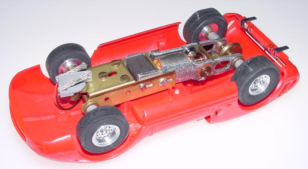 Atlas 124 Scale Red Ferrari Slot Car Chassis