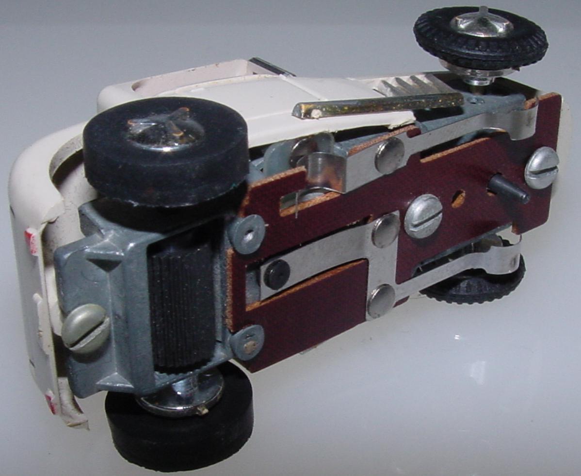 Aurora Vibro White HO Slot Car Hot Rod Chassis