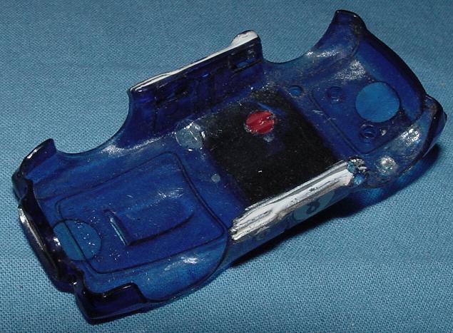 Vintage 1971 Tyco Pro Ho Scale Translucent Blue 427 AC Cobra A/P #8801 Body